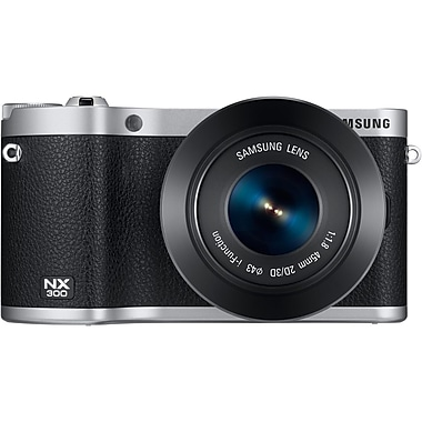 Samsung NX300 20.3 Megapixel 45 mm Lens Mirrorless Camera, Black