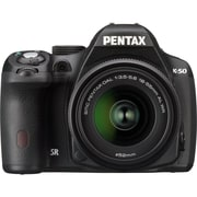 Pentax® K-500 16.3 Megapixel 18 - 55mm (Lens 1)/50 - 200mm (Lens 2) Digital SLR Camera, Black