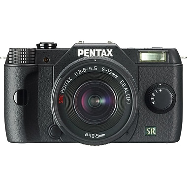 Pentax® Q7 12.4 Megapixel 5 - 15 mm (Lens 1)/15 - 45 mm (Lens 2) Mirrorless Camera, Black
