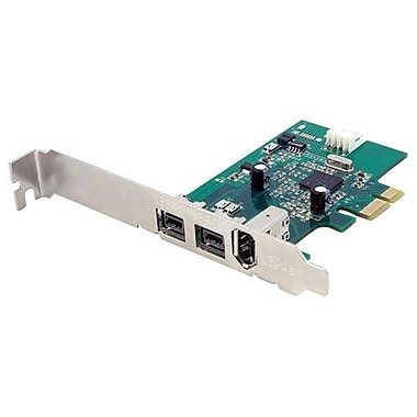Startech.com® PEX1394B3 3 Port 2b 1a 1394 PCI-Express FireWire Adapter Card