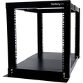 Startech.com® 4POSTRACK12 12U 4 Post Adjustable Open Frame Server Equipment Rack Cabinet, Black