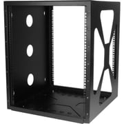 "StarTech RK1219SIDEM 12U 19"" Wall Mount Side Mount Open Frame Rack Cabinet, Black"