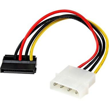 StarTech.com – Câble série Molex à angle vers la gauche à SATA SATAPOWADAPL, 6 pouces