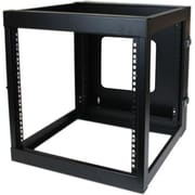 Startech.com® RK1219WALLOH 12U Hinged Open Frame Wall Mount Server Rack, Black