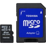 Toshiba 8GB microSD Class 4 Memory Card With Adapter