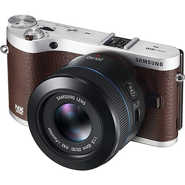 Samsung NX300 20.3 Megapixel 45 mm Lens Mirrorless Camera, Brown