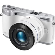 Samsung NX300 20.3 Megapixel 45 mm Lens Mirrorless Camera, White