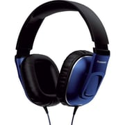 Panasonic® Monitor Street Band RP-HT470C Headphone With Remote and Mic, Blue/Black