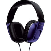 Panasonic® Monitor Street Band RP-HT470C Headphone With Remote and Mic, Purple/Black