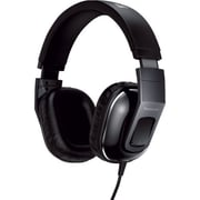 Panasonic® Monitor Street Band RP-HT480C Headphone With Remote and Mic, Gloss Black