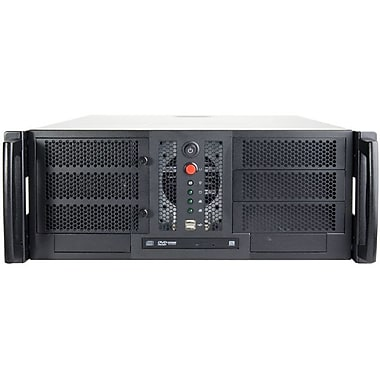 Chenbro 4U Open-bay Rackmount Chassis, Black/Silver