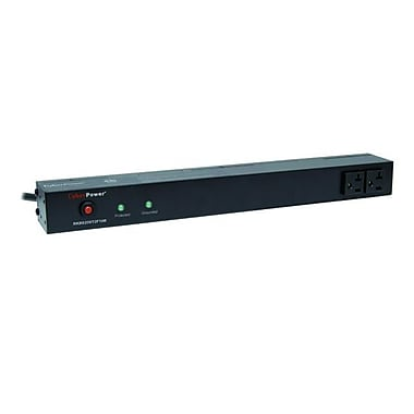 CyberPower® Rackbar S20ST2F 12-Outlet 1800 Joule Surge Suppressor With 15' Cord