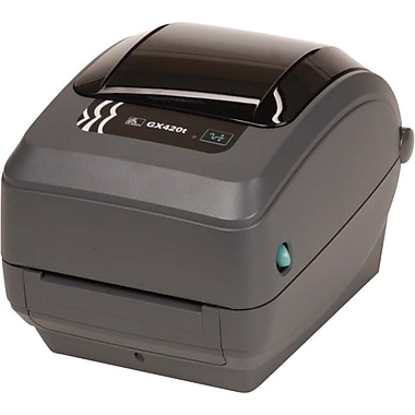 Zebra® GX420t 203 Dpi 4 in/sec Thermal Transfer/Direct Thermal Label Printer With Bluetooth