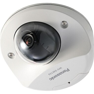 Panasonic® WVSW155 Wired Indoor IP dome Network Camera, 1.95 mm Focal Length, Light Gray