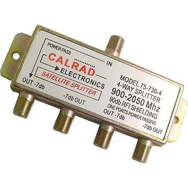 Calrad® 75 4-Way 2 GHz DC Passive Splitter