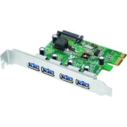 SIIG® USB 3.0 4-Port PCIe Full Height Superspeed Host Adapter, Green
