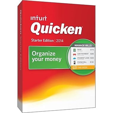 Intuit® Quicken Financial Management 2014 Starter Edition Software, 1 User