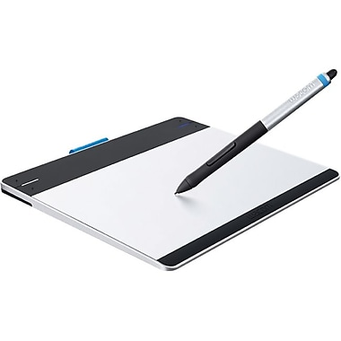 WACOM® Intuos CTH480 Graphics Pen Tablet, Silver/Black
