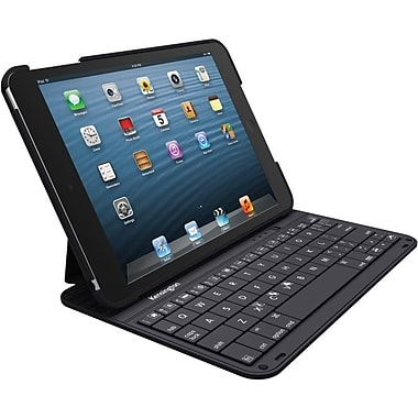 Kensington® KeyFolio Thin Keyboard/Cover Case For iPad Mini, Black