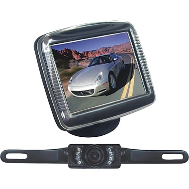 Pyle 3 1/2 Slim TFT LCD Digital Universal Mount Monitor W/License Plate