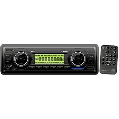 Pyle® PLMR86B AM/FM-MPX Electronic Tuning Radio MP3 Audio Player With USB/SD/MMC, Black