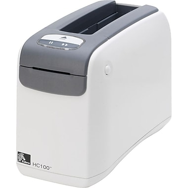 Zebra® HC100 Direct Thermal Monochrome Desktop Wristband Printer