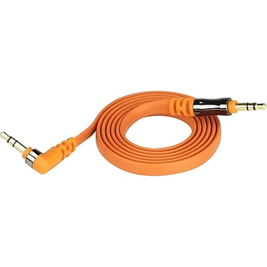 Scosche® flatOUT 3' Flat Male to Male Audio Cable, Orange
