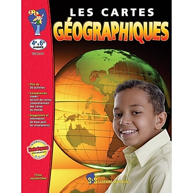 Geography Maps, Grades 4-6 (French Book)