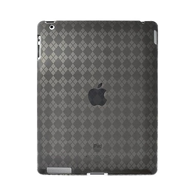 Amzer® Luxe Argyle Highgloss TPU Case ForiPad 2, Smoke Grey