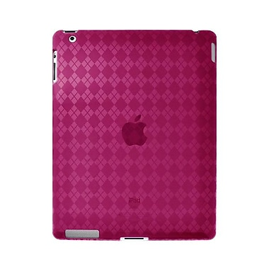 Amzer® Luxe Argyle Highgloss TPU Case ForiPad 2, Hot Pink