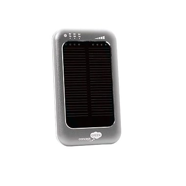 Concept Green™ 3600mAh Solar Assist Portable Battery Charger, Silver