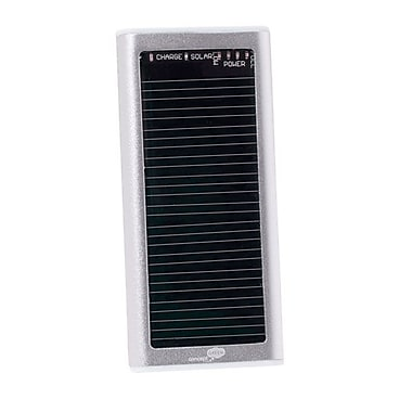 Concept Green™ 1250 mAh Portable Solar Battery Charger, Silver