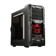 Enermax® Coenus Mid Tower ATX Computer Gaming Case, Gunmetal Grey