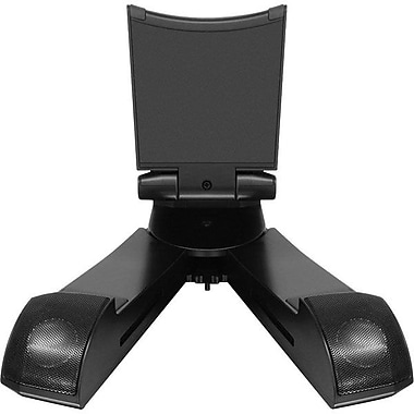 Aluratek Bluetooth Wireless Speaker Tablet Stand, Black