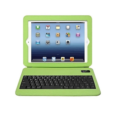 Aluratek Slim Color Folio Case With Bluetooth Keyboard For iPad 2, 3 & 4th Generation, Green Apple