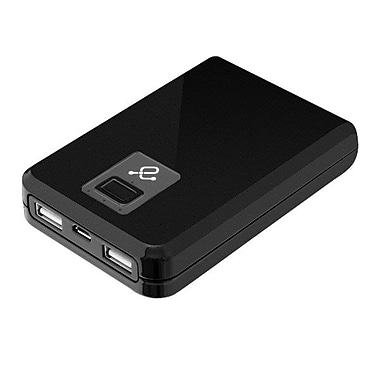 Aluratek 10400mAh Dual USB Portable Battery Charger, Black