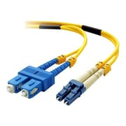 Belkin® 3.28' LC Male to SC Male Singlemode OS1 Duplex Fiber Optic Cable, Yellow