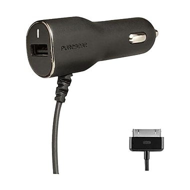 Puregear® Car Charger With USB-Port For iPhone 4/4S, Black