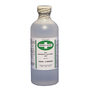 Rubbing Alcohol (99%), 250 ml, 8/Pack