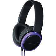 Panasonic® Street Band Monitor Headphones With Remote, Purple/Black