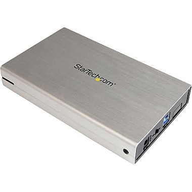 Startech.com® S3510SMU33 3 1/2in. USB 3.0 External SATA III Hard Drive Enclosure With UASP, Silver