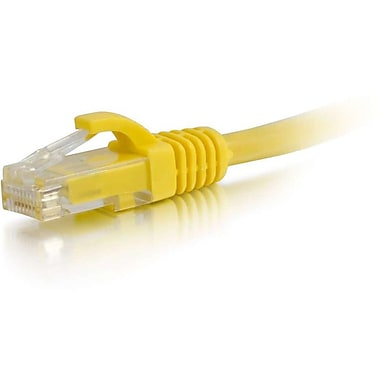C2G® 2' Cat5e RJ-45 Male/Male Snagless Unshielded UTP Network Patch Cable, Yellow