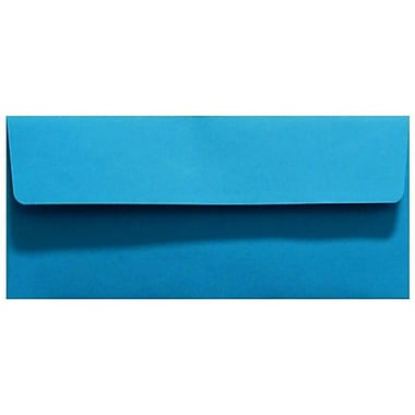 LUX Moistenable Glue #10 Square Flap Invitation Envelopes (4 1/8 x 9 1/2) 1000/Box, Pool Blue (LUX-4860-102-10)