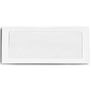 LUX Moistenable Glue #10 Full Face Window Envelopes (4 1/8 x 9 1/2) 1000/Box, 28lb. Bright White (FFW-10-1000)