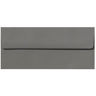 LUX Peel & Press #10 Square Flap Envelopes (4 1/8 x 9 1/2) 500/Box, Smoke Gray (EX4860-22-500)