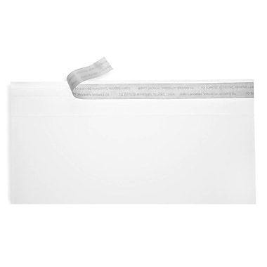 LUX Peel & Seel #10 Square Flap Envelopes (4 1/8 x 9 1/2) 500/Box, Crystal Clear (CC10-500)