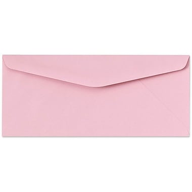 LUX Moistenable Glue #10 Regular Envelopes (4 1/8 x 9 1/2) 1000/Box, Pastel Pink (65904-1000)