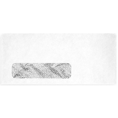 LUX Moistenable Glue #9 Window Envelopes (3 7/8 x 8 7/8) 500/Box, White w/Security Tint (61549-500)