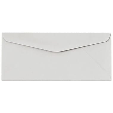 LUX Moistenable Glue - #10 Regular Envelopes (4 1/8 x 9 1/2) - 500/Box - Pastel Gray (60190-500)