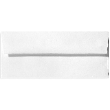 LUX Peel & Press #10 Square Flap Envelopes (4 1/8 x 9 1/2) 1000/Box, White Linen (4860-WLI-1000)